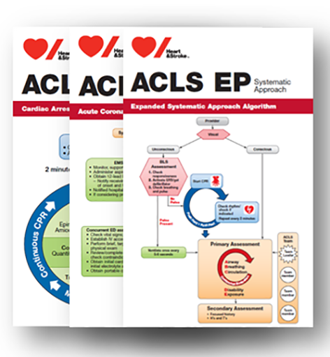 2015 ACLS EXPERIENCED PROVIDER Pocket Reference Card Set- English