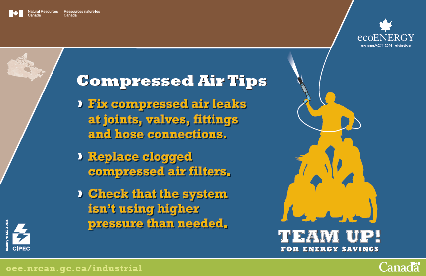 COMPRESSED AIR TIPS POSTER