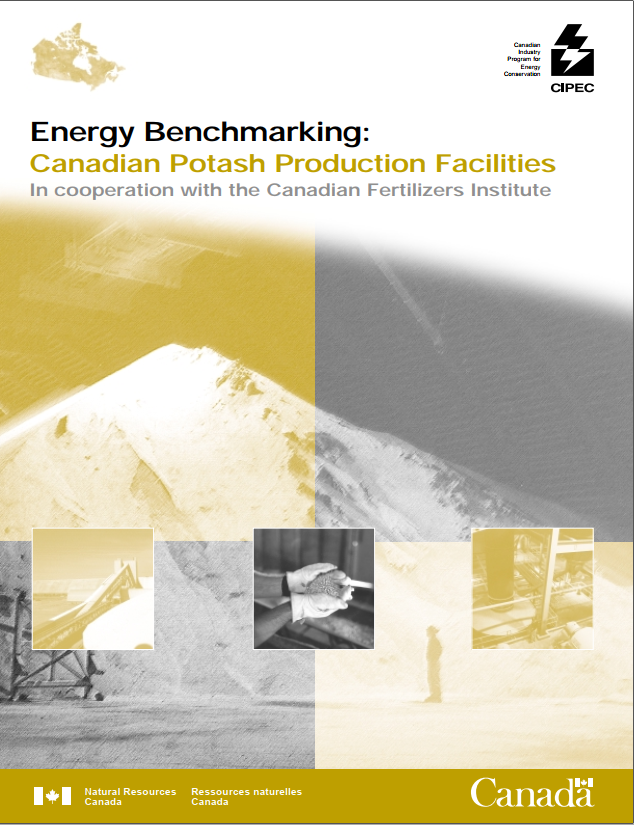 ENERGY BENCHMARKING CANADIAN POTASH PRODUCTION FACILITIES INCOOPERATION WITH THE CANADIAN FERTILIZERS INSTITUTE