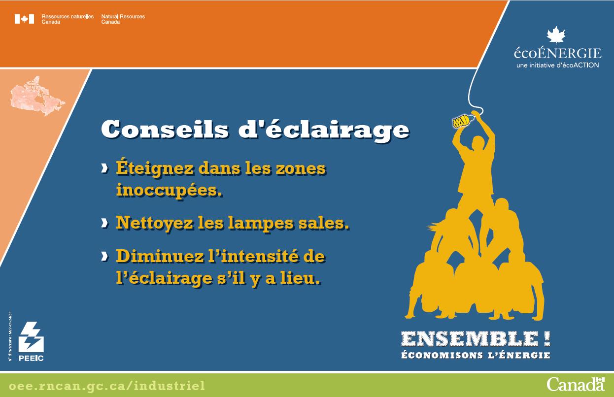 CONSEILS D'ECLAIRAGE AFFICHE