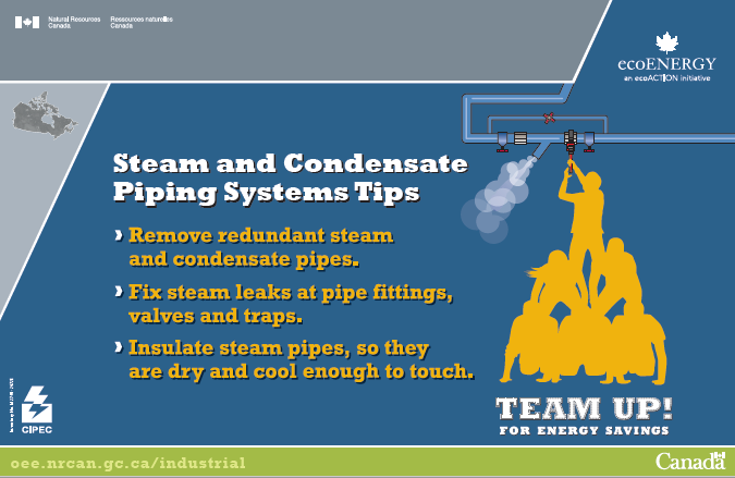 STEAM AND CONDENSATE PIPING SYSTEMS TIPS POSTER