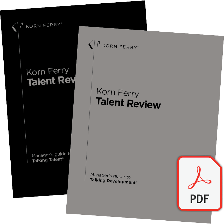Korn Ferry Talent Review - Manager's guide to Talking Talent® & Manager's guide to Talking Development® - English (UK)