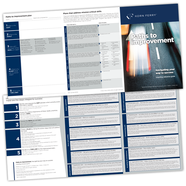 Paths to Improvement: Navigating Your Way to Success Coaching Reference Guide