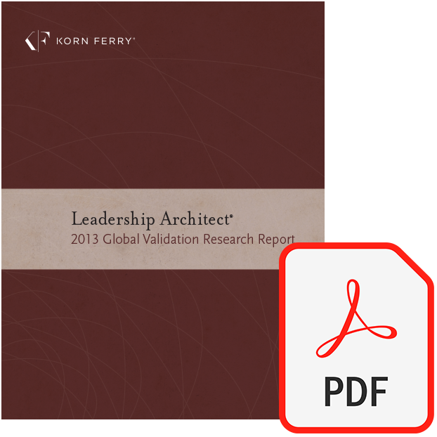 Leadership Architect® 2013 Global Validation Research Report (PDF)