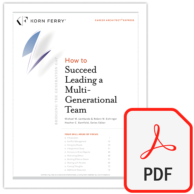 Career Architect® Express Bridging the Generation Gap: How to Succeed Leading a Multi-Generational Team