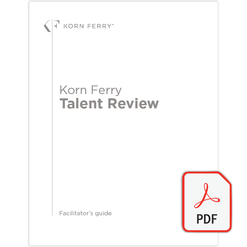 Korn Ferry Talent Review Facilitator's Guide - English (UK)