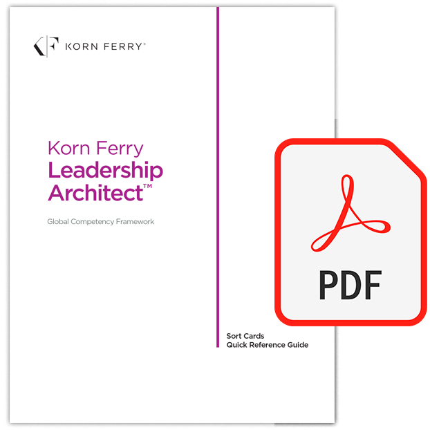 Korn Ferry Leadership Architect™ Sort Card Quick Reference Guide - English (US)
