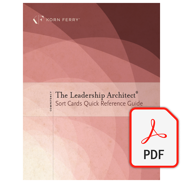 Leadership Architect® Sort Card Quick Reference Guide (PDF) - English
